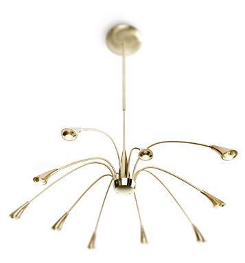 MyLiving 40542, vàng crom, đồng/đồng thau, LED